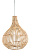 Luhu Cane Rib Tear Drop Pendant Lamp, Natural