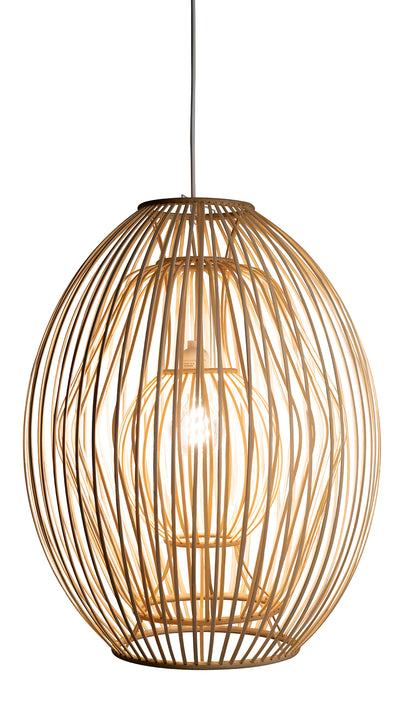 Bamboo Trinity Ball Pendant Lamp, Natural
