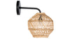 Luhu Open Weave Cane Rib Ball Sconce Wall Lamp, Natural