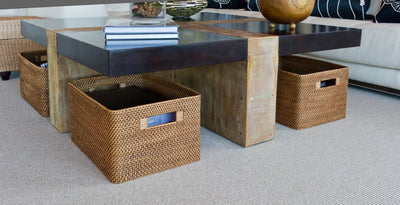Laguna Rectangular Rattan Storage Basket