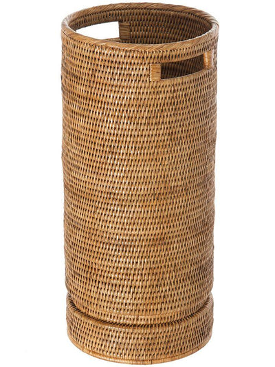 La Jolla Rattan Round Umbrella Stand with Water Catch