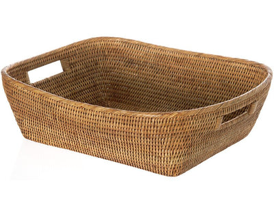 La Jolla Oblong Rattan Storage & Shelf Basket