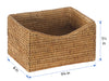 La Jolla Rattan Organizing & Shelf Basket