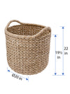 Large Handwoven Decorative Storage Basket in Twisted Sea Grass