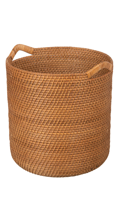 Laguna Round Rattan Storage Basket with Ear Handles