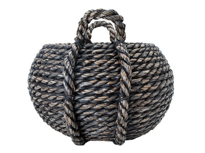 Extra Large Round Storage  Basket in Chunky Lampakanay, Coco Brown