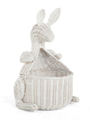 Kangaroo Wicker Storage Basket, White