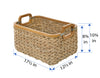 Rectangular Anson Basket in Sea Grass, Small