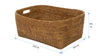 La Jolla Oblong Storage Basket, Honey Brown, Large