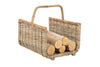 Kobo Rattan Fire Log Basket, Gray-Brown