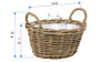 Kobo Rattan Oval Party Bucket, Gray-Brown