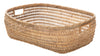 Cambria Rectangular Open Weave Storage Basket, Honey-Brown