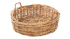 Round Rattan Lacak Floor Basket, Jumbo Size, Natural Brown