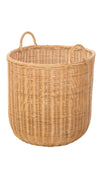 Morro Rattan Round Storage Basket, Honey-Brown