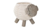 Rattan Sheep Kids Storage Basket, White & Gray