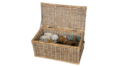 Rattan Kobo Decorative Storage Trunk with Lid, Natural