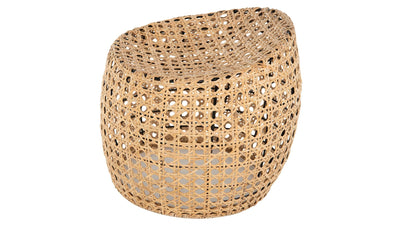 Jao Rattan Cane Stool, Natural Color