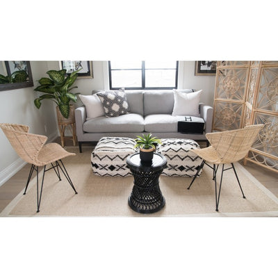 Coron Rattan Stool, Sidetable and Planter Stand