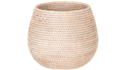 La Jolla Coco Rattan Planter and Bowl