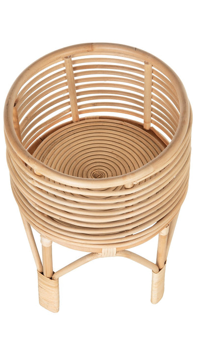 Rattan Indoor Plant Stand, Small, Natural