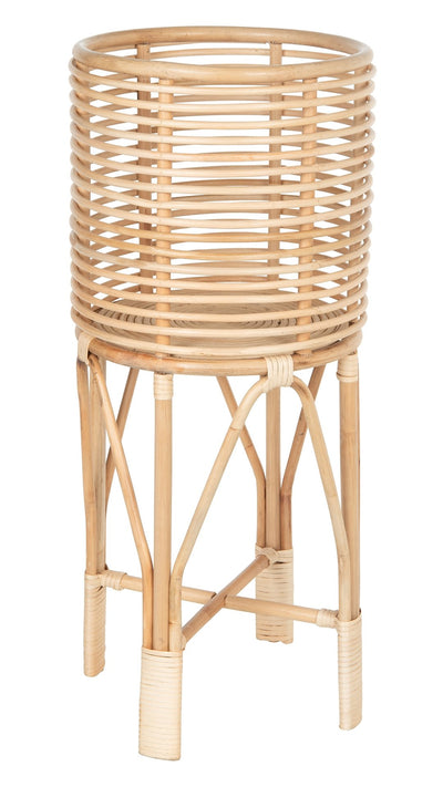Rattan Indoor Plant Stand, Medium, Natural
