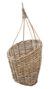 Kobo Rattan Hanging Wall Basket and Planter, Brown-Gray
