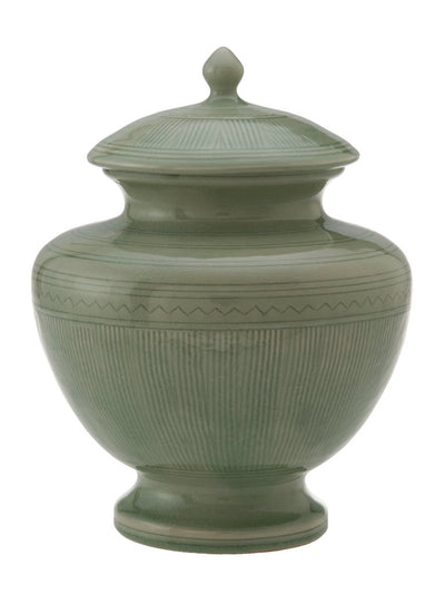 Celadon Painted Jar