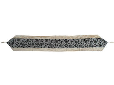 Silk Table Runner Silver-Gray