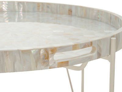 Tray Table in Kabibe Seashell