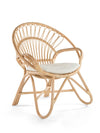 Round Rattan Loop Armchair with Seat Cushion