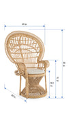 Grand Peacock Chair in Rattan