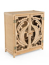 Rattan Peacock Storage Cabinet with 2 Doors