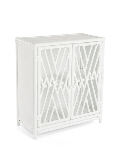 Rattan Chippendale Storage Cabinet with 2 Doors