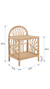 Rattan Loop Nightstand