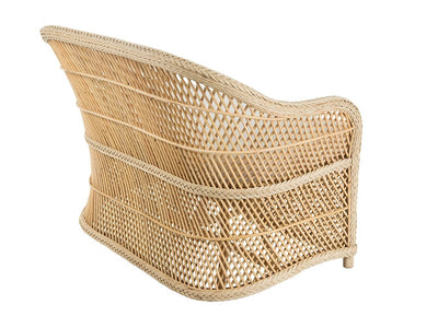 Tonga Rattan Two-Seater Sofa with Armrest, Natural