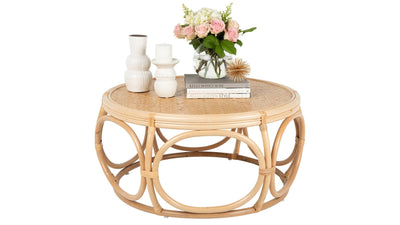 Busan Rattan Coffee Table, Natural Color