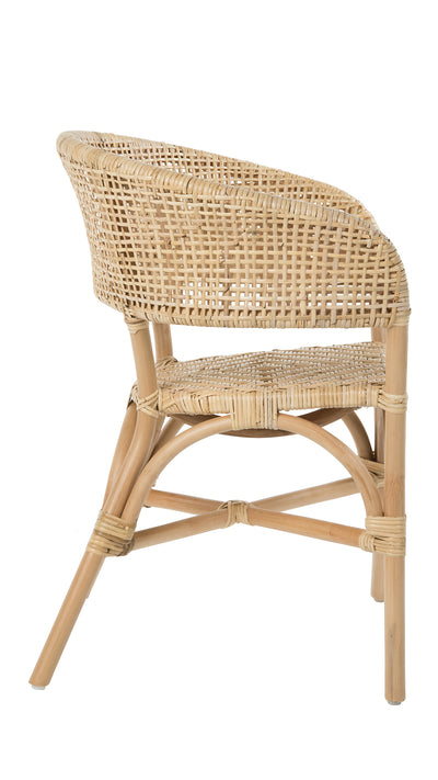 Rattan Cane Webbing Club & Dining Chair, Natural