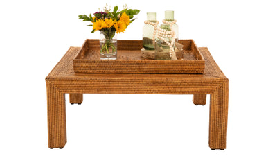 La Jolla Rattan Square Coffee Table