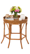 La Jolla Rattan Round Side Table
