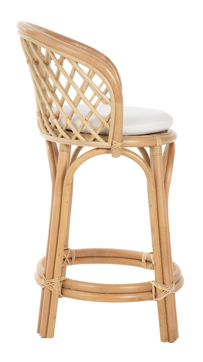 Rattan Criss-Cross Counter Stool, Natural