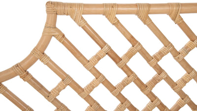 Rattan Chippendale Headboard, Natural