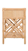 Rattan Chippendale Bedside Table, Natural