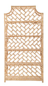 Rattan Chippendale Bookshelf, Natural