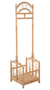 Rattan Freestanding Coat Rack with Shoe Shelf, Natural