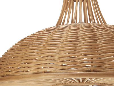 Wicker Long Neck Pendant Lamp, Natural