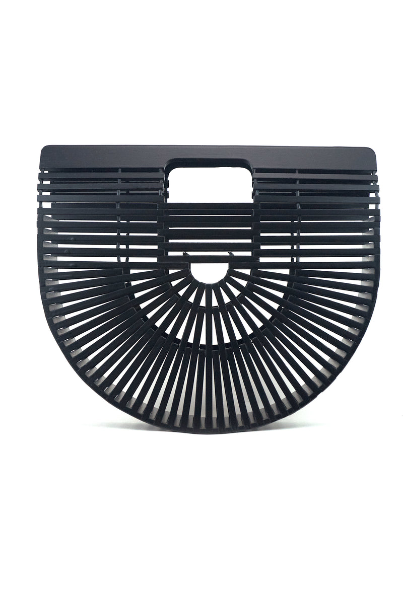 Large Bamboo Bag in Black