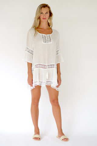 Cora Beach Dress - White