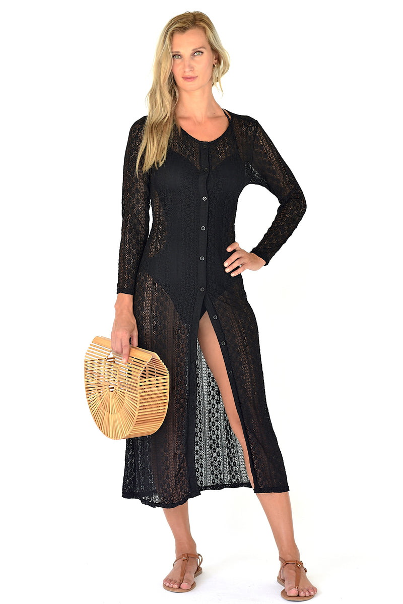 Cora Beach Dress - Black