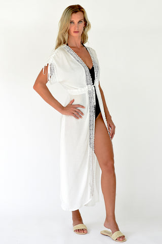 Gaia Beach Dress - White