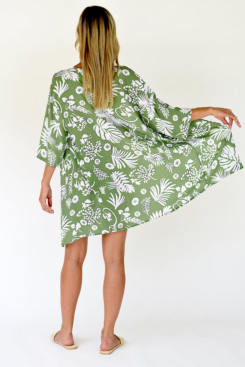 Hanalei Cover Up Tunic - Green